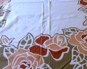 Unused 1970s Vera Neumann Floral Tablecloth