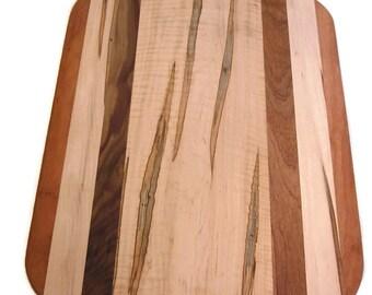Large Rectangle Cutting Board, Multi Wood Cutting Board, Rustic Cutting Board, Chopping Board,