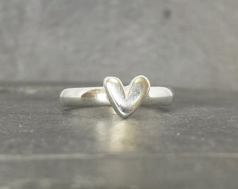 Little Sweetheart mid stacking ring - sterling silver ring, UK, custom made, hand made, jewellery