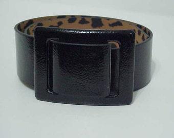 Vintage Betsey Johnson Belt Black Patent Belt