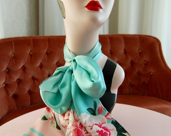 Silk scarf, Honeybird, birthday gift, gift for her, gift mom, Woody Ellen bag, Christmas gift, christmas gift ideas, valentine gifts ideas