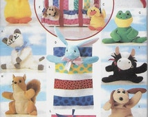 ON SALE Butterick 5294 Bean Bag Animal Pals Pattern, UNCUT