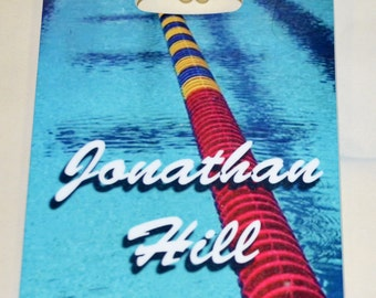 Full Color Personalized SwimTeam Bag Tag