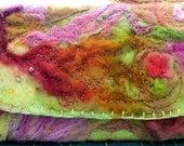 Fantasy Floral Fiber Art Clutch