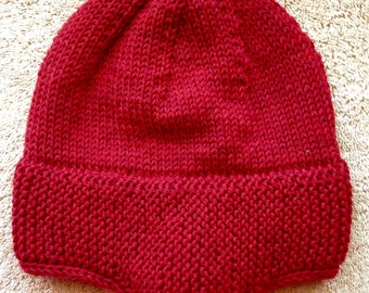 Man or Woman 1898 Seaman's Hat - Stocking Cap - Extra Warm - Winter Hat - Wool