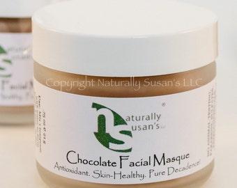 FACIAL MASK - Chocolate Facial Masque - All Natural Organic 1.0oz