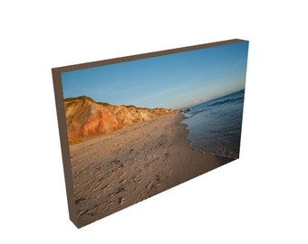 Beach Photography, Gay Head Cliffs, Moshup Beach Aquinnah, Martha's Vineyard, Canvas Print, Wall Decor, Gift for wife, husband, Man Cave Art