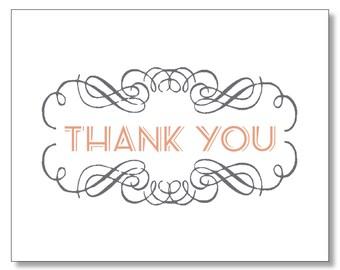 Stylish Beautiful Thank You Card. Art Deco Thank You Card. Modern Design Thank You Card. Made in Brooklyn.