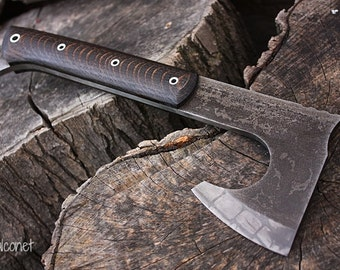 "Handcrafted FOF ""Falconet"" full tang tactical and survival axe"