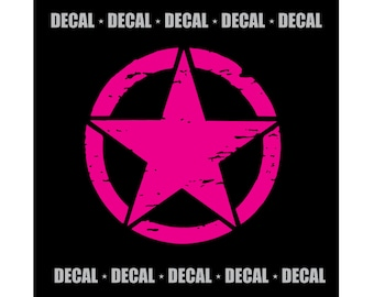 Jeep Star {Decal} - Med