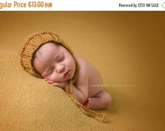 SALE 20%OFF Newborn Photo Prop Bonnet hat- Prop Newborn Hat in MANY Sizes- Ribbed Bonnet Hat- Knit Baby Hat-Many color choices