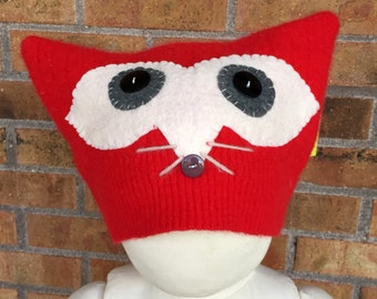 Youth/Adult Red Fox Hat Lambswool Blend #5