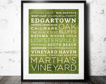 Martha's Vineyard Poster - 11x14