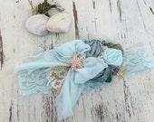 Baby Girl Headband, well dressed wolf- Baby Headband- Flower Girl Headband, DollCake Headband, TUTU Du Monde-  Lace Headband, Boho Headband