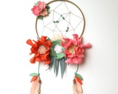 Dream catcher mobile, Above bed decor, baby mobile, dream big little one, felt flower mobile, crib baby mobile, dreamcatcher, tribal nursery