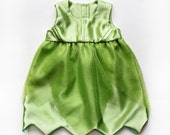 Baby Girls Tinkerbell Fairy Costume Dress Glitter Tulle Bow Back Handmade Unique - Ready to Ship