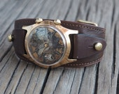 1960's Signal watch, Modified USSR men's watch - Signal- 1960's, Steampunk watch,  modified mechanical watch