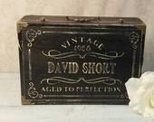 Aged to Perfection Memory Box, Card Box, 30th Birthday, 40th Birthday, 50th Birthday, 60th Birthday, Keepsake Box, Black,  MHB