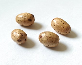 Natural seed pod beads