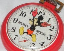 Bradley Walt Disney Productions Mickey Mouse Swiss Made Character Pocket Watch