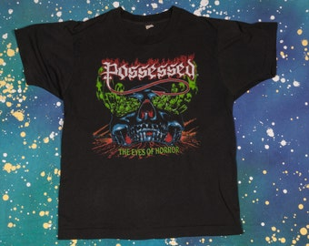 POSSESSED The Eyes of Horror Metal T-Shirt Size M