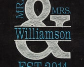 Custom Order Mr&Mrs Burlap Sign - Williamson