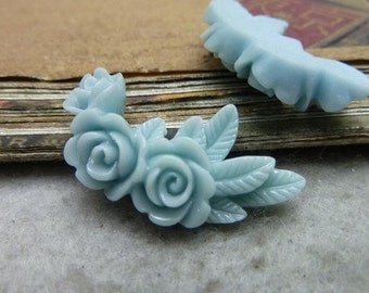 10pcs  resin flower    Cabochons  pendant finding