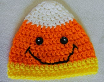Crochet Candy Corn Hat Style 002 - Made To Order