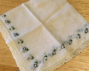 Linen & Lace Bridal Handkerchief