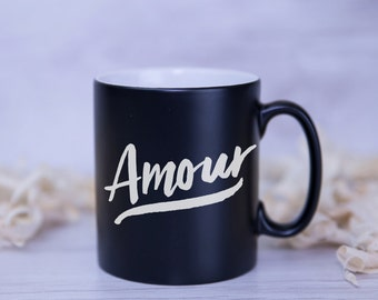 Amour Satin Coated Mug - Colours to Choose From