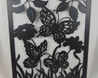 Butterflies Cutout Wall Hanging Metal Art