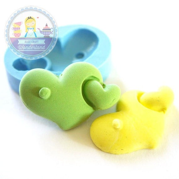 Large Double Heart 35mm Bakery Silicone Flexible Mold 137L* BEST QUALITY