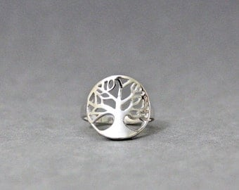 Tree of Life Ring-Inspirational Jewelry-Highly Polished-Fashion Ring-Silver Tree of Life Ring-Family Tree Ring-Wedding Gifts, cheap rings