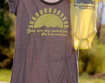 TWO LEFT! Size XL tunic teeMommy and Me Shirt Set: You Are My Sunshine