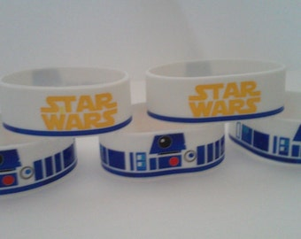 R2D2 Star Wars Slicone Bracelets 5 pack Party Favors
