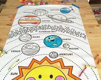 "Solar System printable 24""x36"""