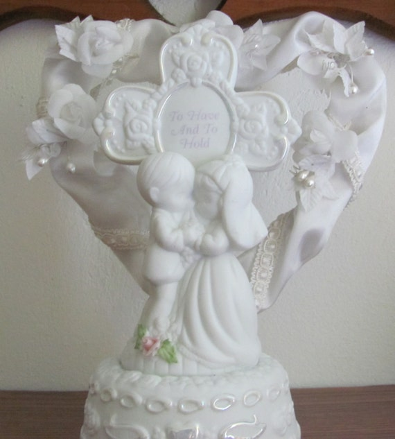 Precious Moments Musical Wedding Cake Topper