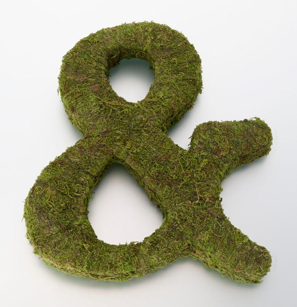 Moss Covered Letters: Moss Covered Letters Ideal For DIY Wedding Door Decorations Or