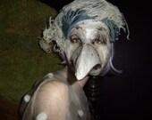 RESERVED for Jan Crow masks Doctor plague mask Masquerade mask Paper mache mask Bird mask Bird costume Halloween mask  Papier mache mask