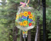 Adorable Hand Painted Dragonfly Crown Royal Humminbird Feeder