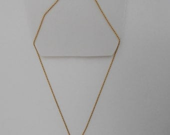 Reserve 14K Solid Yellow Gold Rope Chain Necklace. 4.4 Grams, 18 inches for ELT