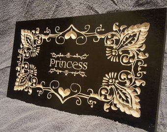 Custom Wood Signs, Princess fully customizable.