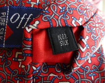 OFF THE CUFF EnGLAND 100 % Pure Silk Vintage Tie. Classic and Trendy look.