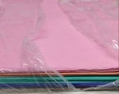Colored tissue paper - 8 colors - shop closing- in package but opened