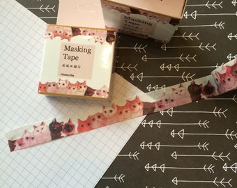 Cat Faces Washi Tape