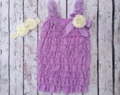 Petti Romper-Lace Romper-Baby Romper-Lavender-Lavendar-Girls Romper-Lace Petti Romper-Ruffle Romper-Romper-Baby Outfit-Onesie-Birthday-photo