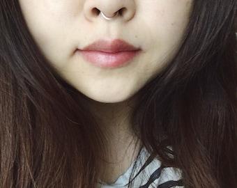 Silver, black, gold, rose gold fake septum ring, nose ring, adjustable nose ring, fake nose ring, faux septum ring, body piercing