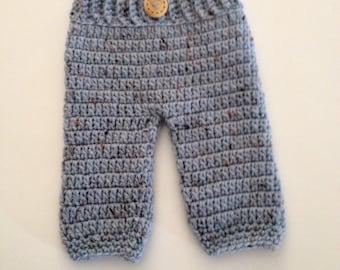 SALE Crochet Baby Pants Diaper Cover,Boy Pants,Crochet Baby Pants, Longies,Newborn Photo Prop ,Made To Order