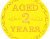 Aged Customized Birthday Age Sticker
