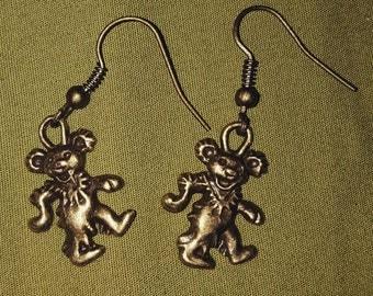 Grateful Dead dancing bear earrings
